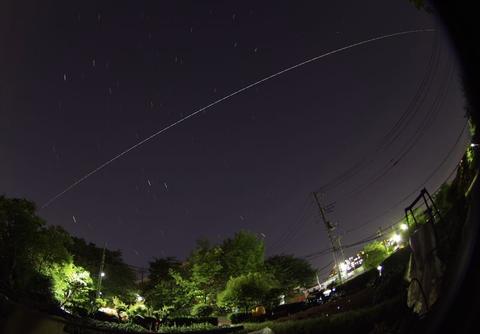 北天を射抜いた国際宇宙ステーション(ISS)