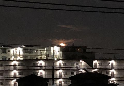 8月の満月sturgeon moon とISS