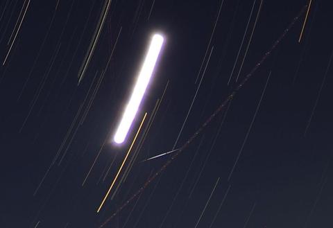 ペルセウス座流星群の朝