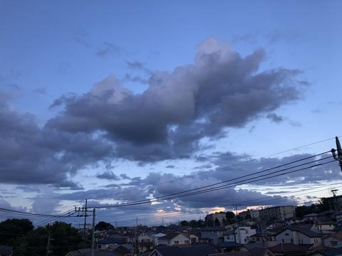 空に落ちた雲の影法師
