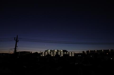 月と水星の接近、春の星座