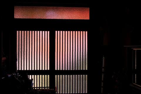 玄関から紅葉!、富士山、ISS