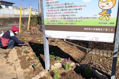 打越公園花壇のリニューアル 4/5