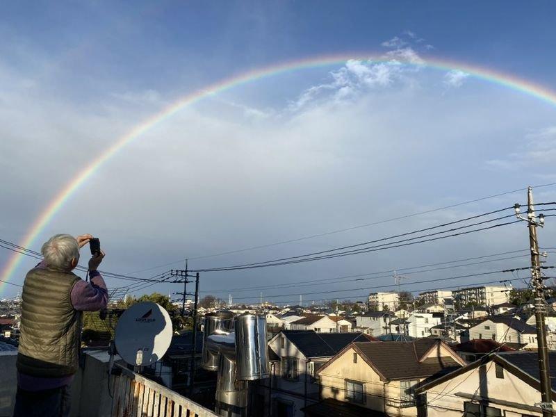 虹の上を滑りたい!