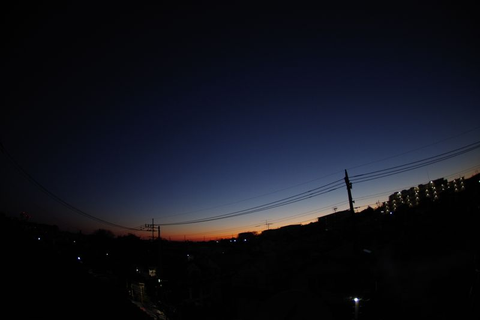 早朝のISS