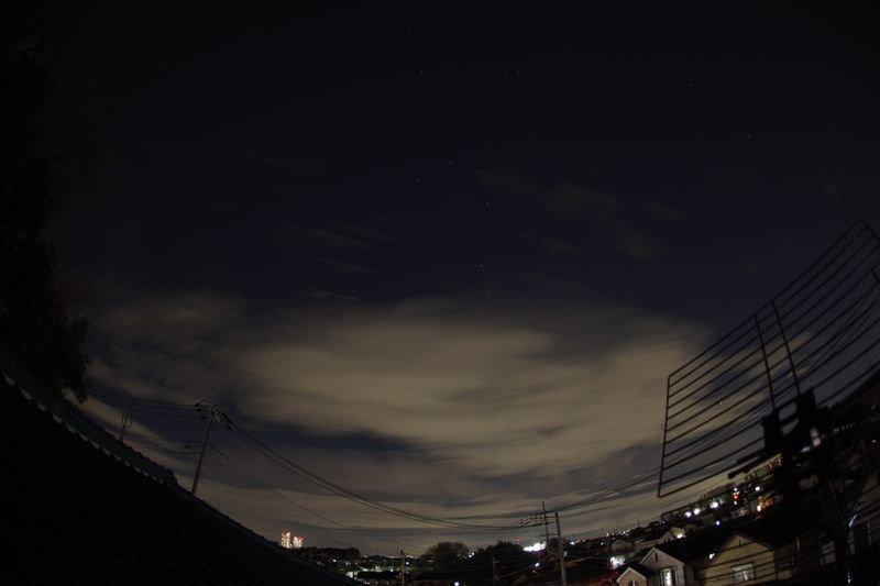 雲とISSと流星