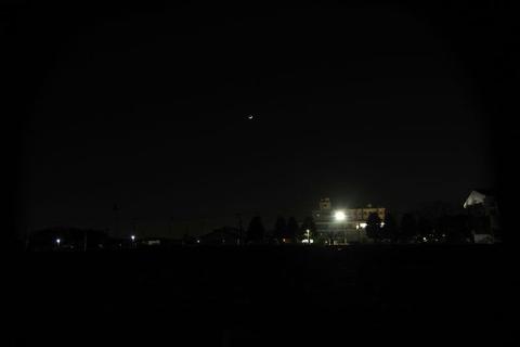 夕のISS