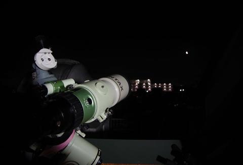 月と土星、木星