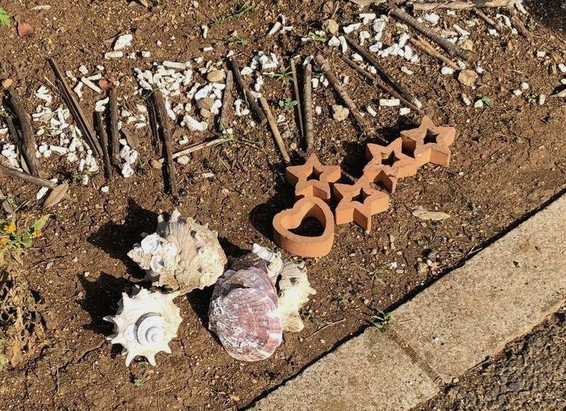 「ありがとう!」の公園花壇