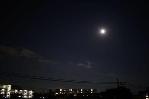幻日と7月の満月、惑星接近
