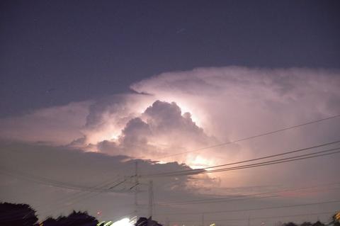 8月30日の雷雲